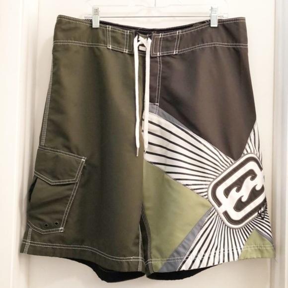 Billabong Other - Billabong Board Shorts Shane Dorian Green/White 38